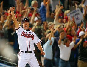 Braves Clinch Wild Card Chipper Jones Atlanta Braves Atlanta Braves Baseball