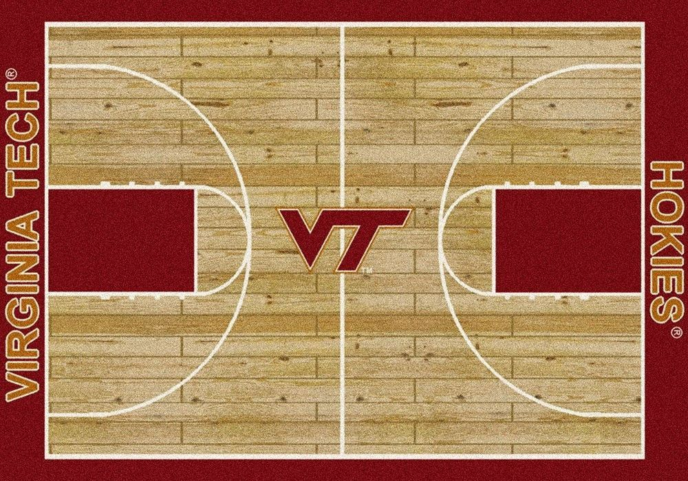 Virginia Tech University Basketball Court Rug Novelty