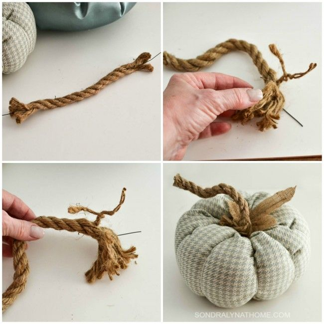 How to Make a Fabric Pumpkin – Two Ways