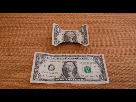 Origami Bow Tie Out Dollar Bill Origami Tutorial Lets Make It