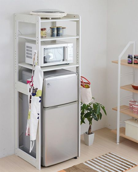 Rack Refrigerator Top Rack Kitchen Shelves Range Stand Alone