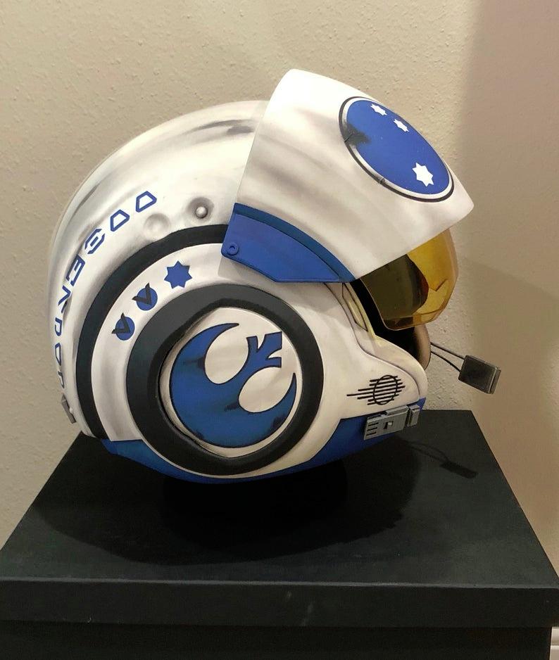 Película de Star Wars Poe Dameron Disfraz réplica X-wing Pilot Helmet Decals