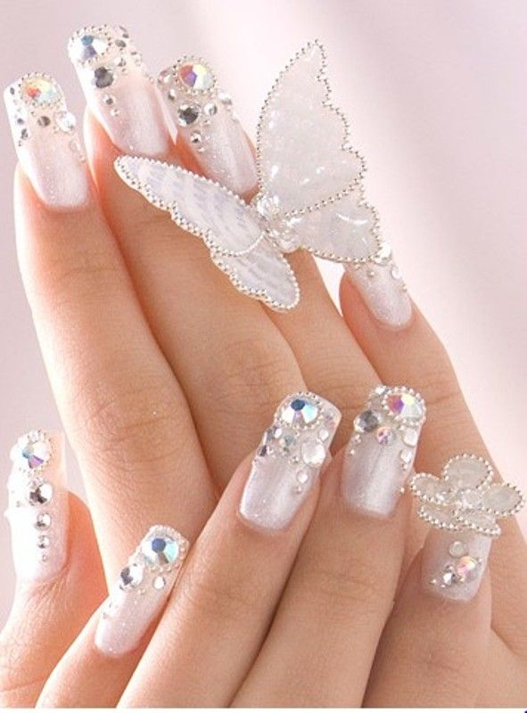 15 Elegant Nail Arts to Complete Your Gorgeous Look   Pinterest ...