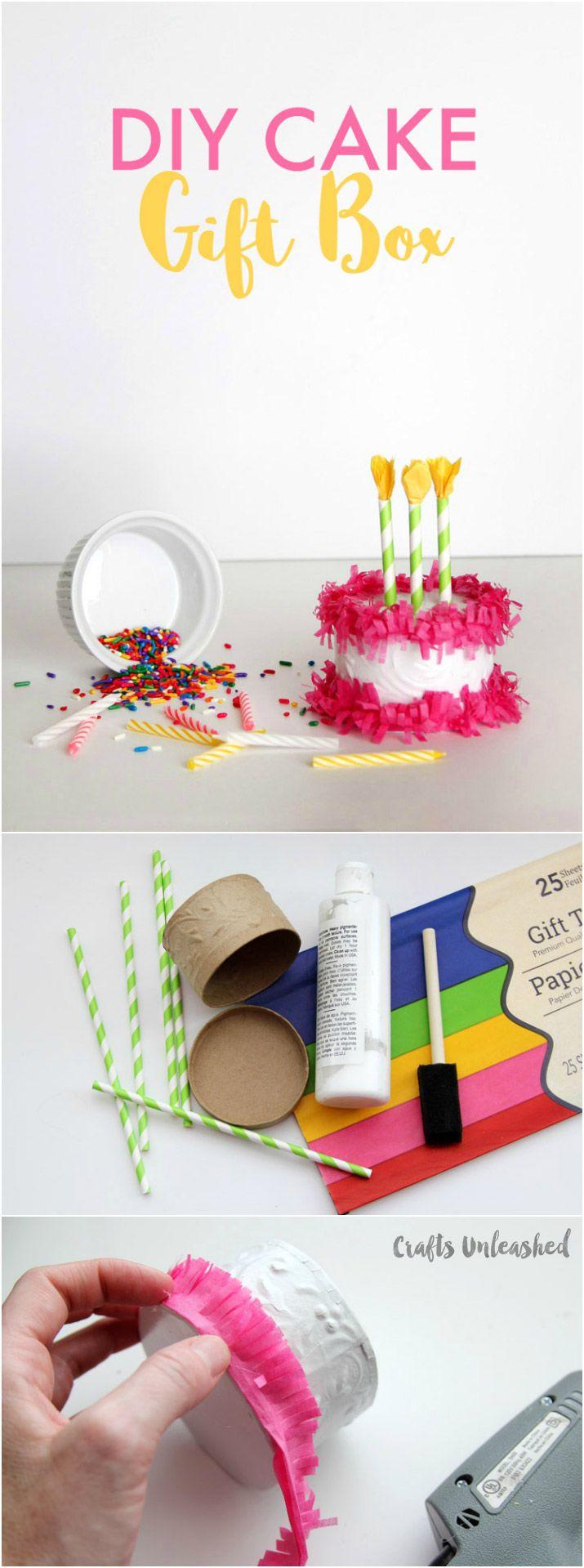DIY Paper Mache Cake Gift Box Creative Birthday Gifts Mom