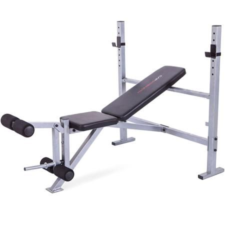 Cap Strength Deluxe Weight Bench With Leg Attachment Black Gray Walmart Com Weight Benches No Equipment Workout At Home Gym