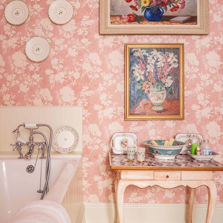 Bathroom Goals A Patterned Wallpaper Can Transform Any Space Mikegarlickdesign In Bathroom Style Bathroom Goals Wall Coverings