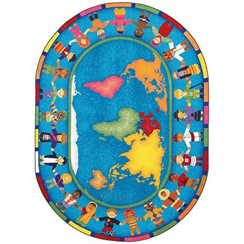 Educational Hands Around The World Kids Rug Rug Size Oval 109 X 132 You Can Get More Details By Clicking On The Image Not Kids Area Rugs Area Rugs Kids Rugs