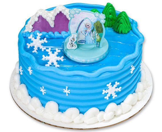 Disneys Frozen Elsa Anna Olaf Cake Kit Topper Decoration Birthday