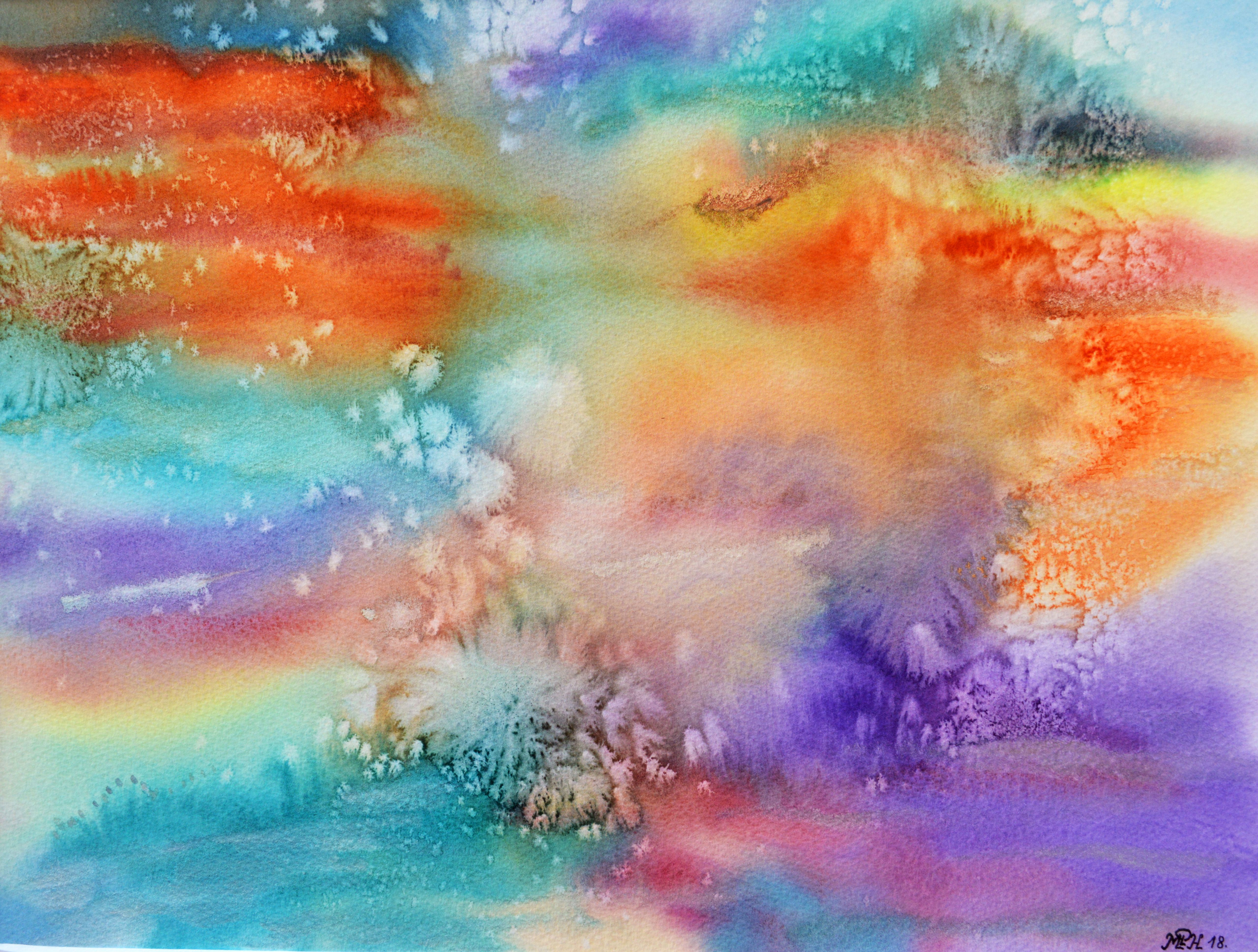Peinture A L Aquarelle Colle Et Sel Vorschulkunstaktivitaten