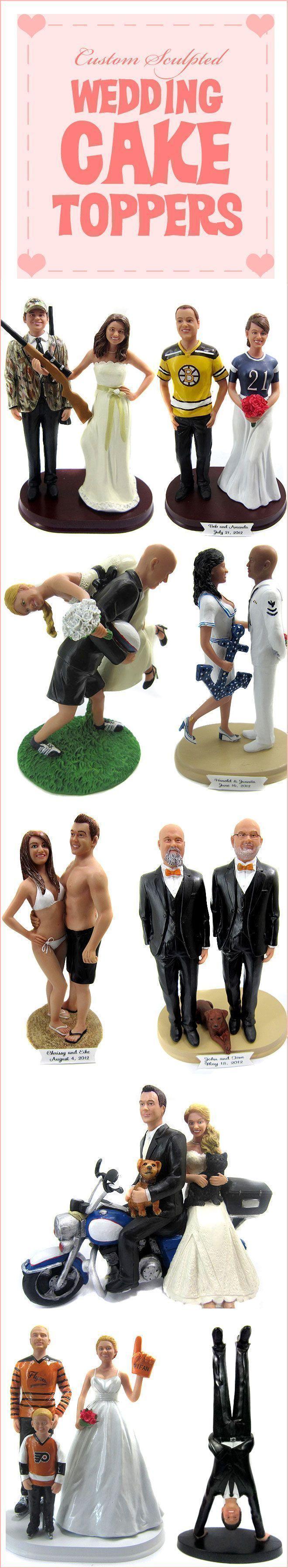Create a custom wedding cake topper that looks just like you ...