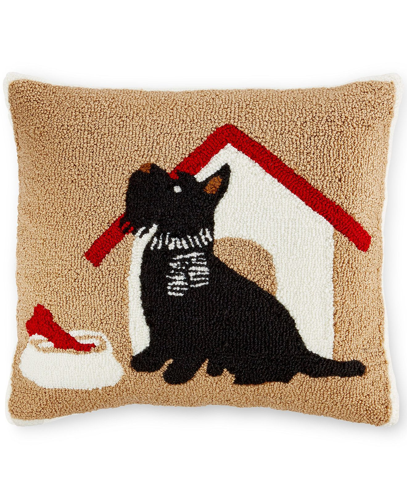 CLOSEOUT! Martha Stewart Collection Scottie Decorative Pillow ...