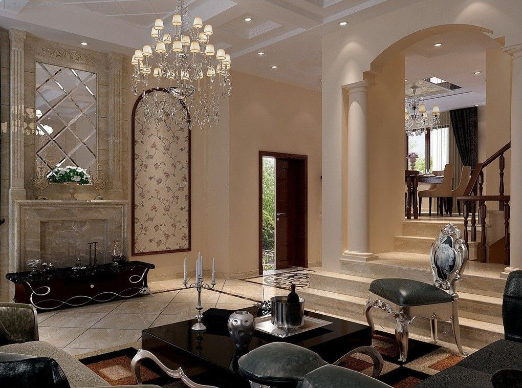 20 Luxury Living Rooms for the Super Rich | Living rooms, Ceiling ...