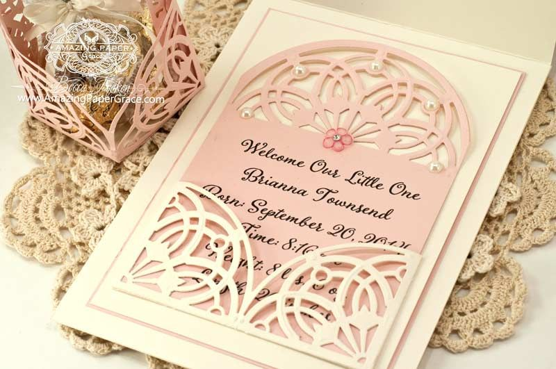 Card Making Ideas Baby Part - 48: Baby Card Making Ideas By Becca Feeken Using Quietfire Design And  Spellbinders Arched Elegance And Arched