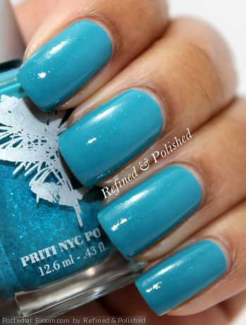 By Refined & Polished. #priti #nails #nailpolish #blue @Bloom.com ...