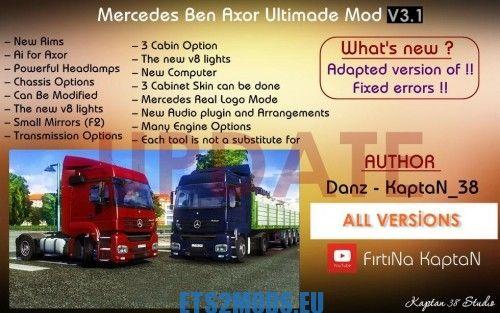 Mercedes Benz Axor Ultimate Mod Update - ETS2MODS EU - Euro
