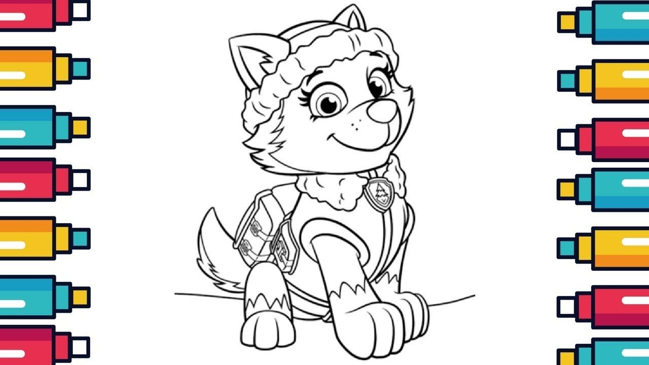 Cartoon Coloring Pages For Kids Paw Patrol Everest Pawpatrol Cartoon Coloring Coloringpages Cartoon Coloring Pages Coloring Pages For Kids Coloring Books