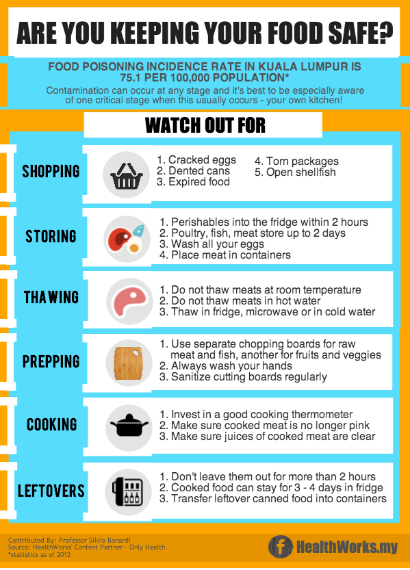 From Shop To Fridge Your Guide To Preventing Food Poisoning Healthworks Malaysia Food Poisoning Safe Food Food Temperatures