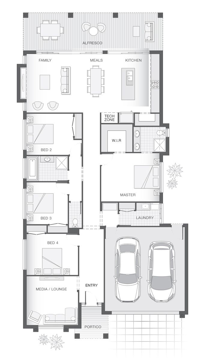 Single storey home design the isla by adenbrook homes also house in rh pinterest
