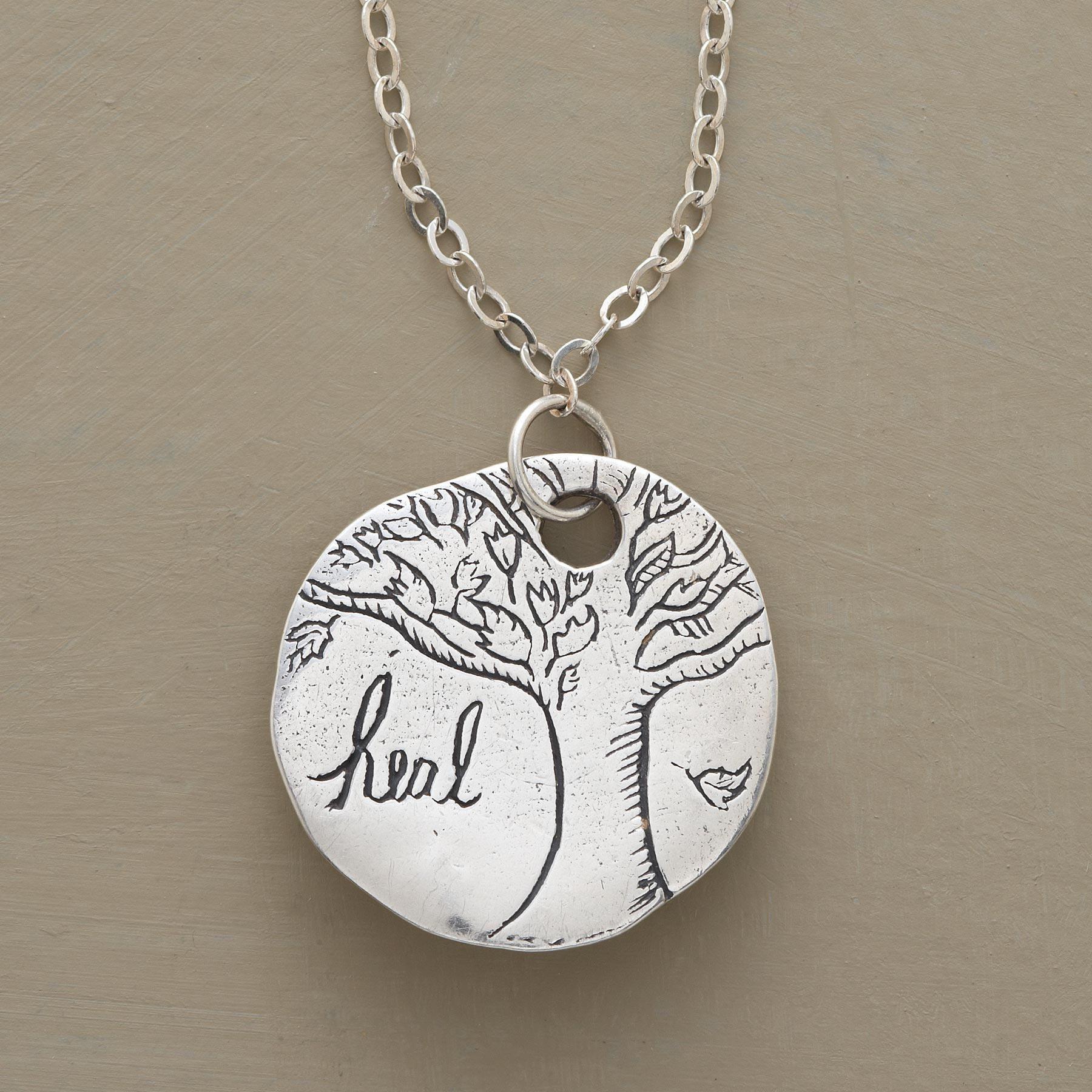 Hand Crafted Yew Wood Charm NecklacePendant ANGELUM LUCiiS