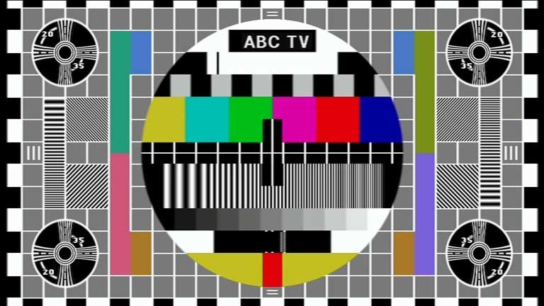 Abc Test Pattern From Back In The Days That Tv Went Off Air Every