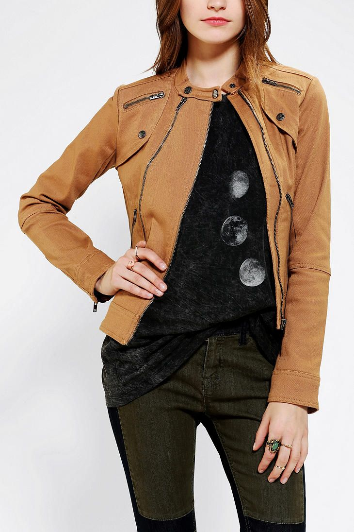 Tripp NYC Military Moto Jacket | Urban Outfitters