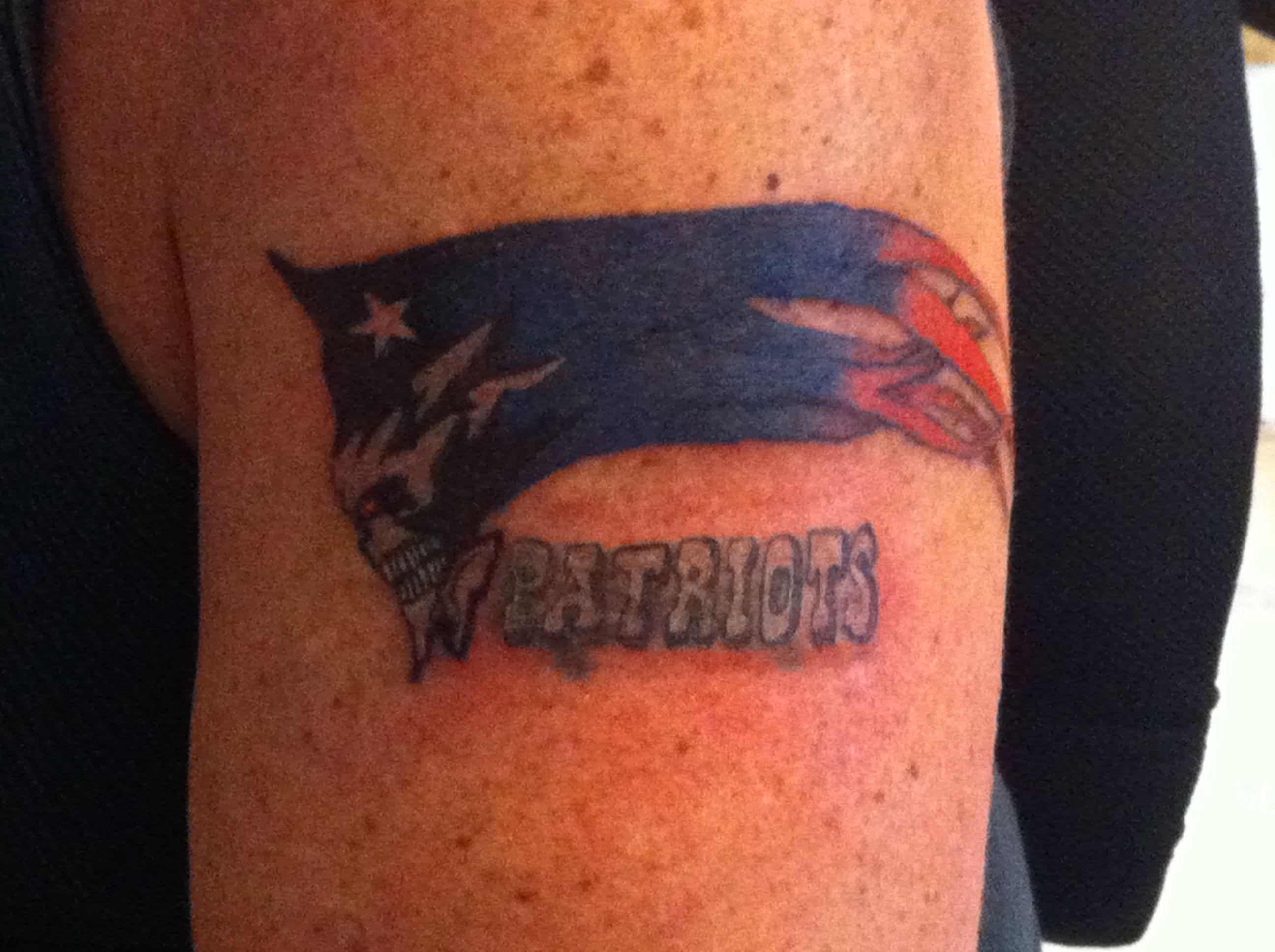 Very Cool Patriots Tattoo Tattoos New England Patriots Patriots