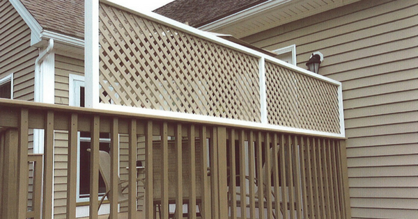 Adding A Lattice Privacy Screen To Existing Deck Railing Privacy Screen Deck Privacy Screen Outdoor Deck Lattice Privacy Screen
