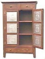 R-NYW3121 - Pie Safe Cabinet Woodworking Plan Featuring ...