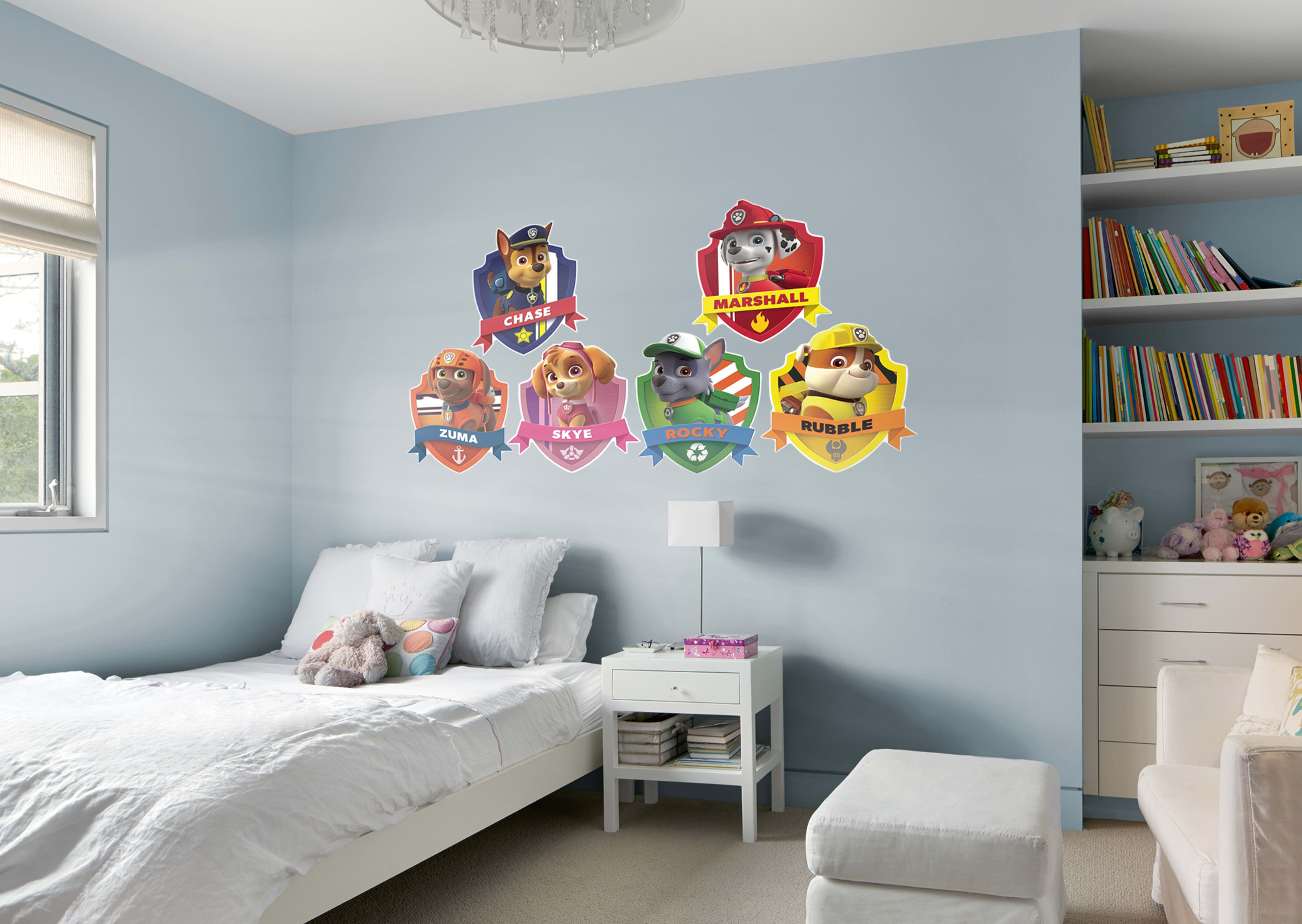 Nice PAW Patrol Shields Collection Fathead Wall Decal
