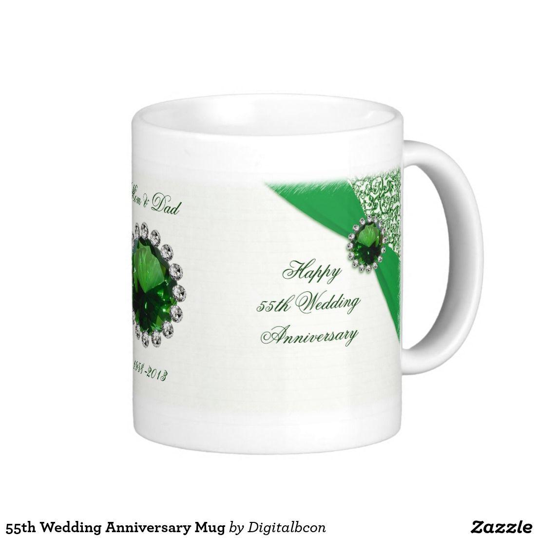 55th Wedding Anniversary Mug Wedding Anniversary
