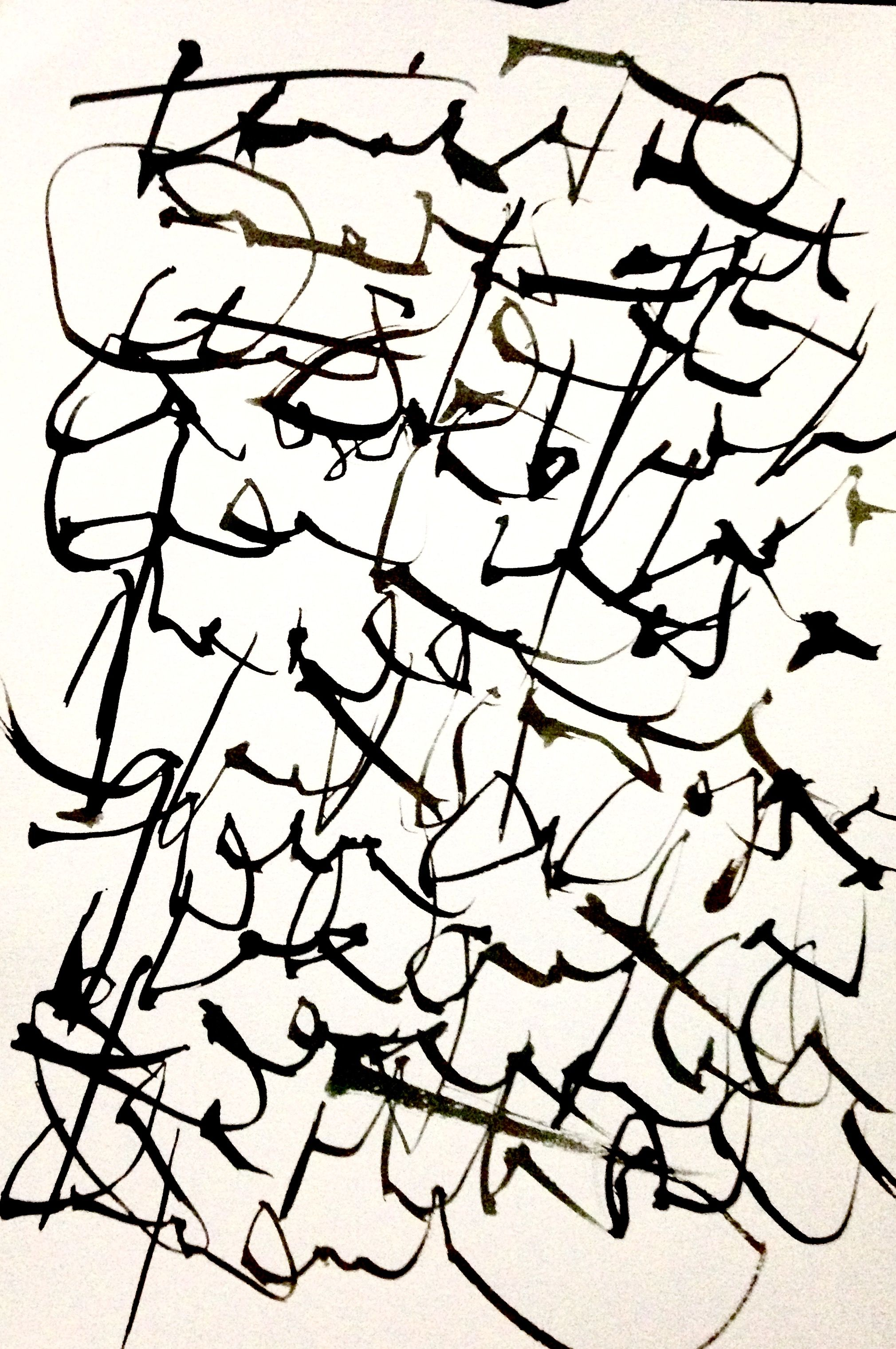 Asemic Writing Gennifer Ciavarra Ink Art Scribble Art