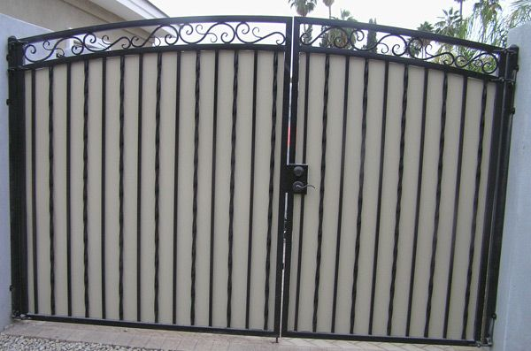 Driveway Gates Decorative Arched Gates With Plate Steel Privacy Panels Driveway Gate Iron Gates Iron Gates Driveway