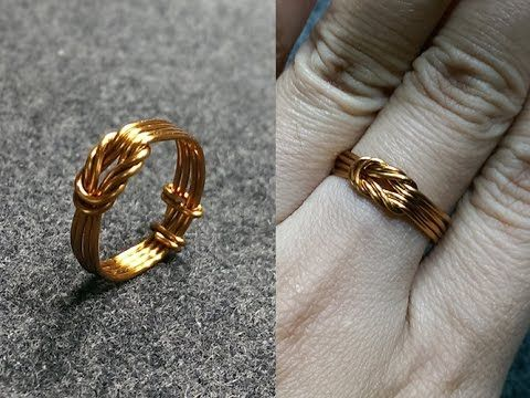 knot ring - How to make wire jewelery 147 | ring | Pinterest | Draht ...