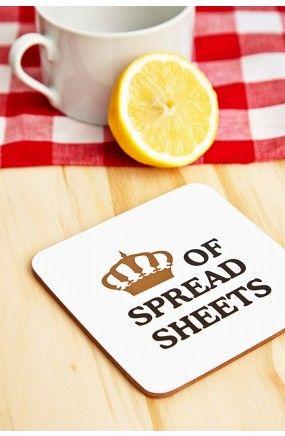 Queen Of Spreadsheets Coaster