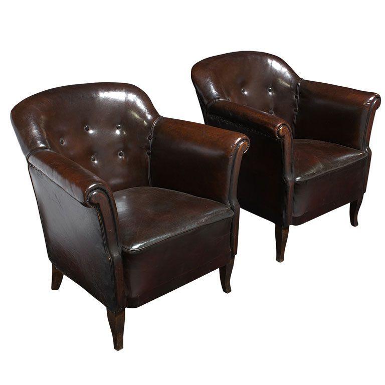Swedish Leather Club Chairs | Study furniture | Pinterest ...