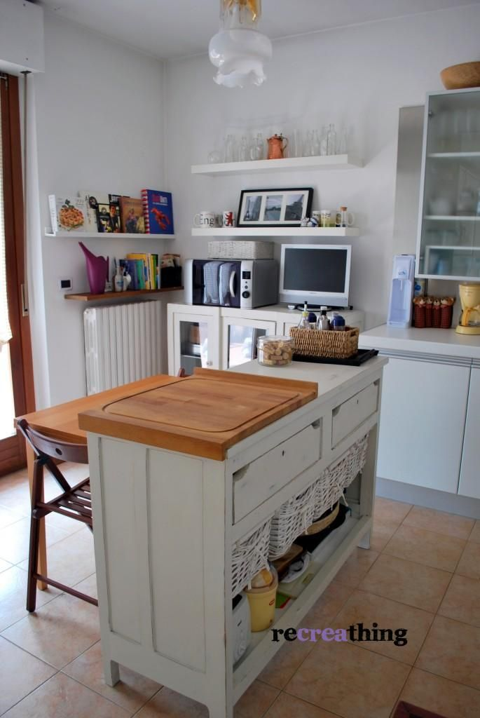 Credenza trasformata in bancone e vetrina recreathing my projects credenza ikea home - Mobili cucina ikea credenza acciaio ...