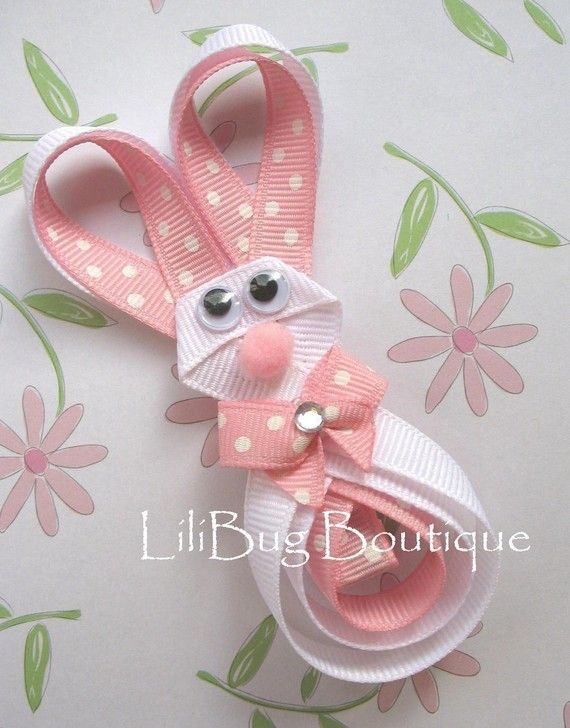 www craft ideas lilibug hoppity easter bunny hair clip with swarvoski 3273