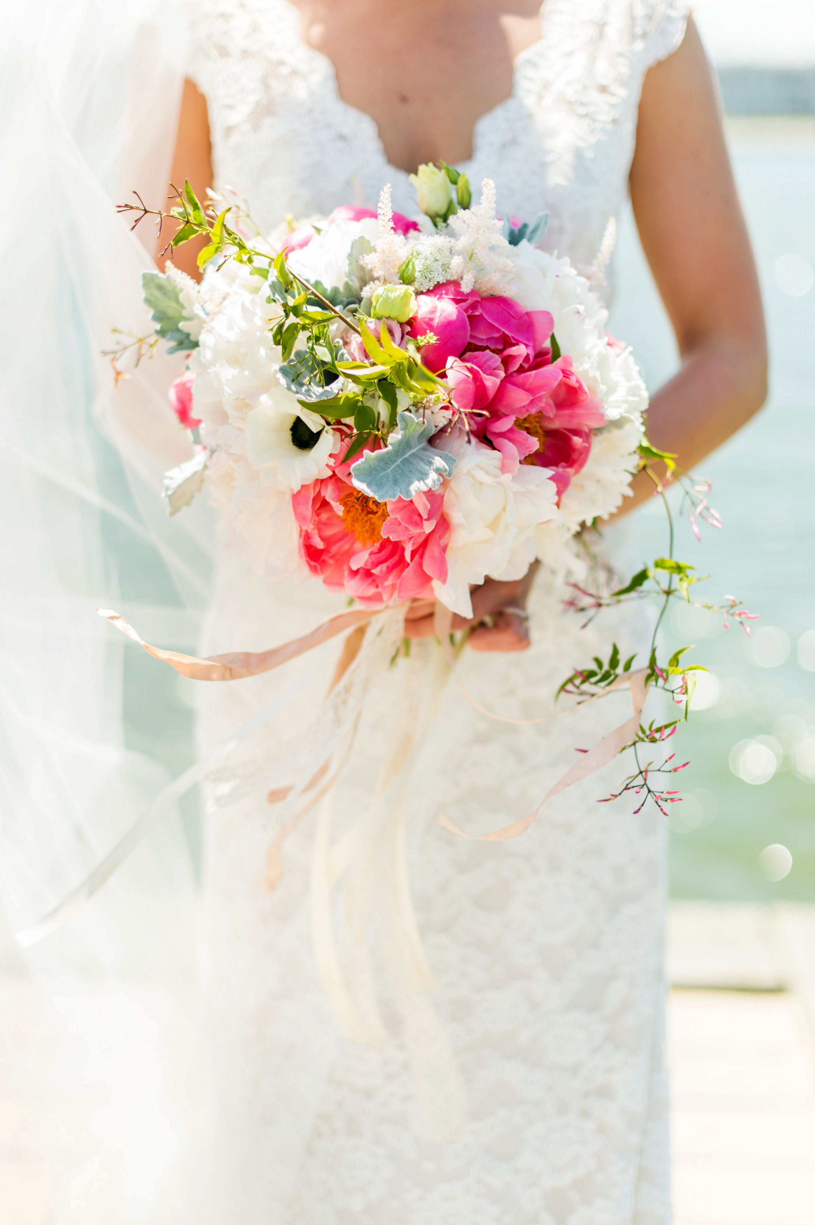 Bride S Bright And Beachy Bouquet At Sunset Ballroom At Chesapeake Bay Beach Club Flowers Http Intr With Images Pastel Wedding Wedding Flowers Chesapeake Bay Beach Club