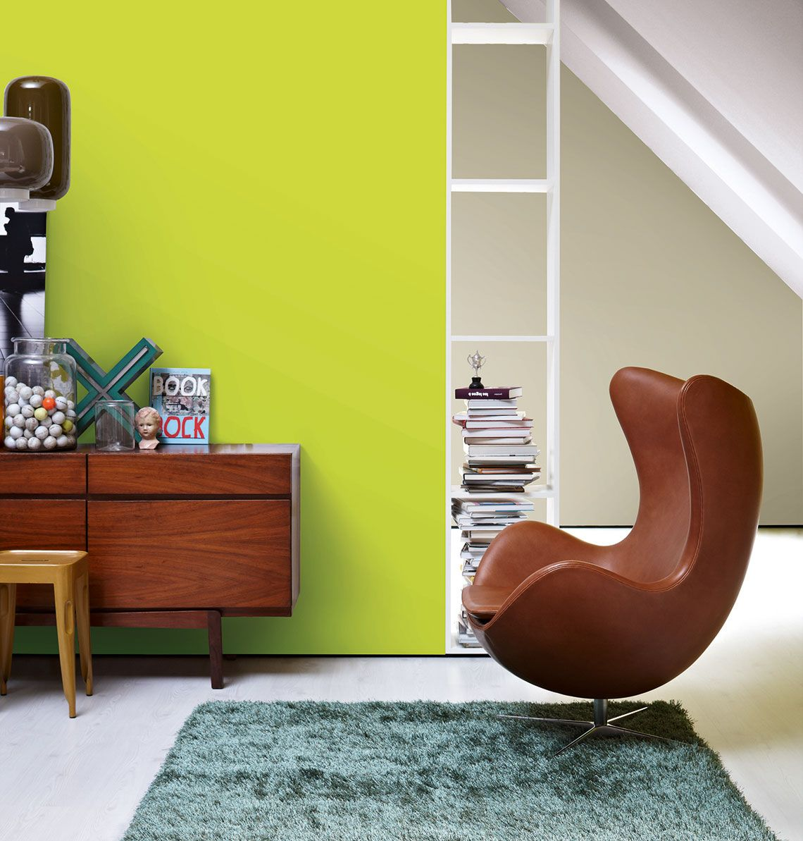 Sessel In Knalligen Zimmer Mit Wandfarbe Trendfarbe Fresh Schoner Wohnen Farbe Schoner Wohnen Und Wohnen