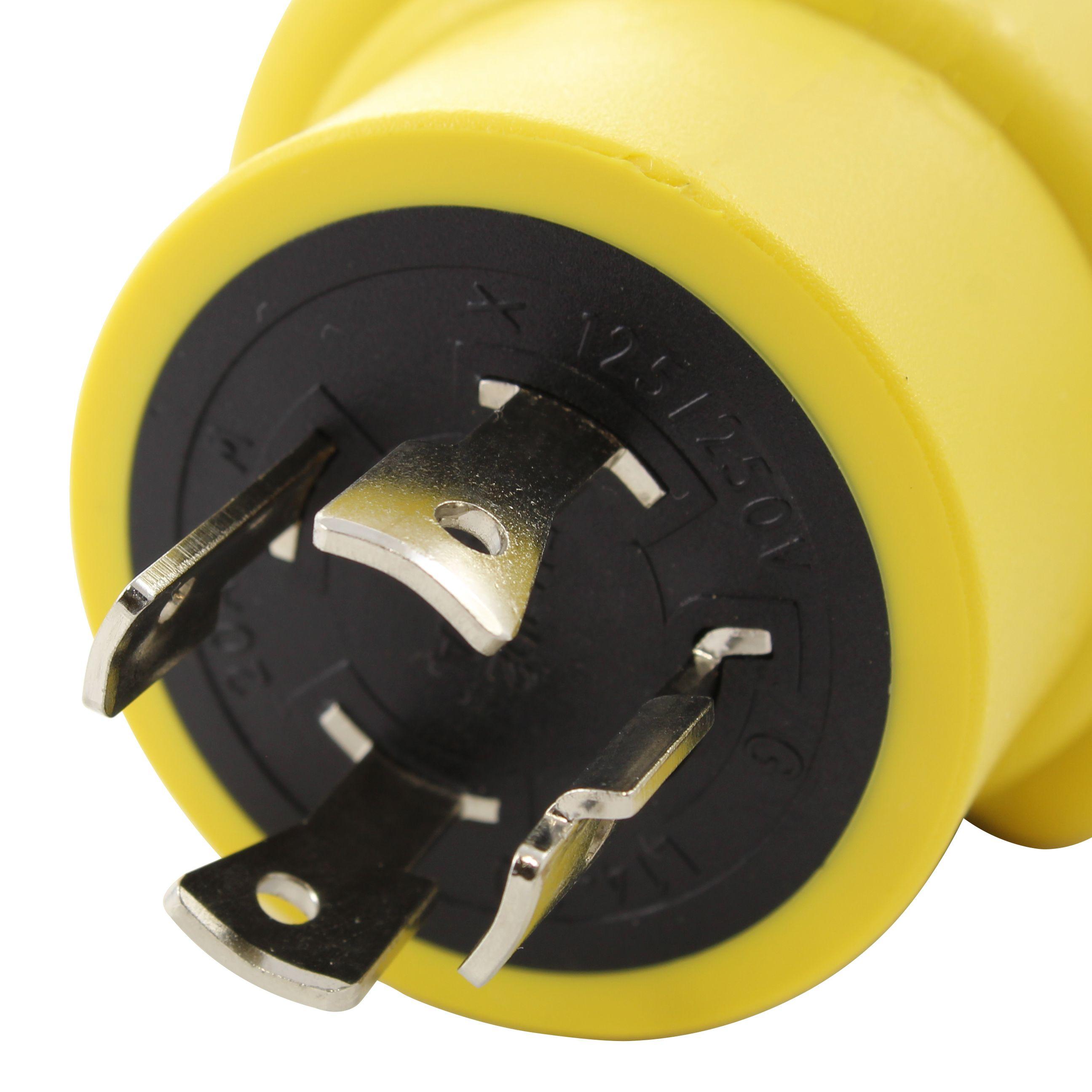 Ac Works Rvl14201450 Adapter Nema L14 20p 20a 4 Prong Plug To Nema 14 50r 50a 125 250v Connector Plugs Connector Compact Design