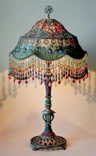 Vintage French Soul Lace Lamp Victorian Lamps Antique Lamps