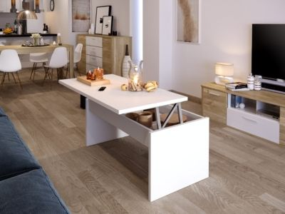 relevable plateau decoTable Table YANA basse BlancIdee 2DWIEH9Y