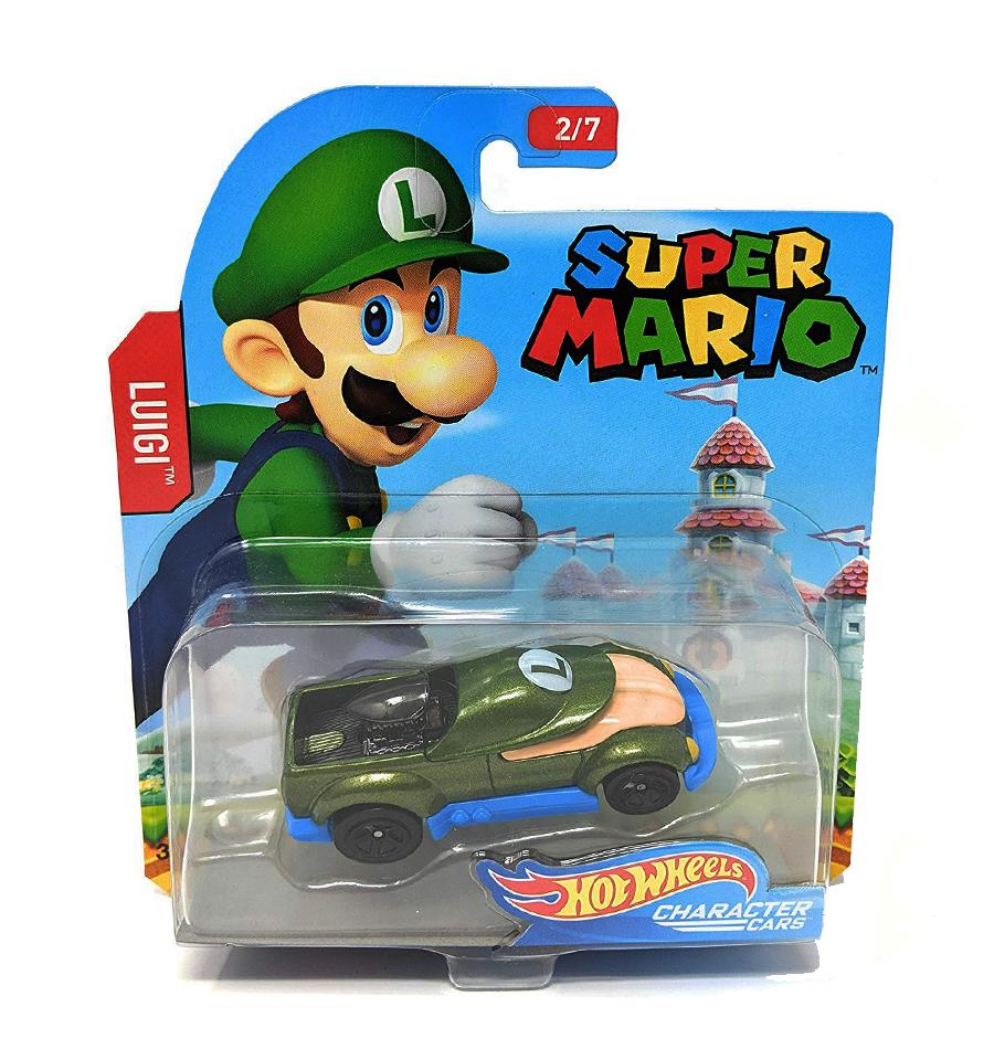 Hot Wheels Super Mario Character Cars Luigi Vehicle 2 7 Hot Wheels Toys Hot Wheels Hot Wheels Garage