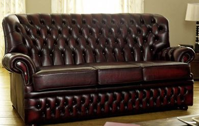 Harlington Highback Red Leather Sofa Distressed Leather Sofa
