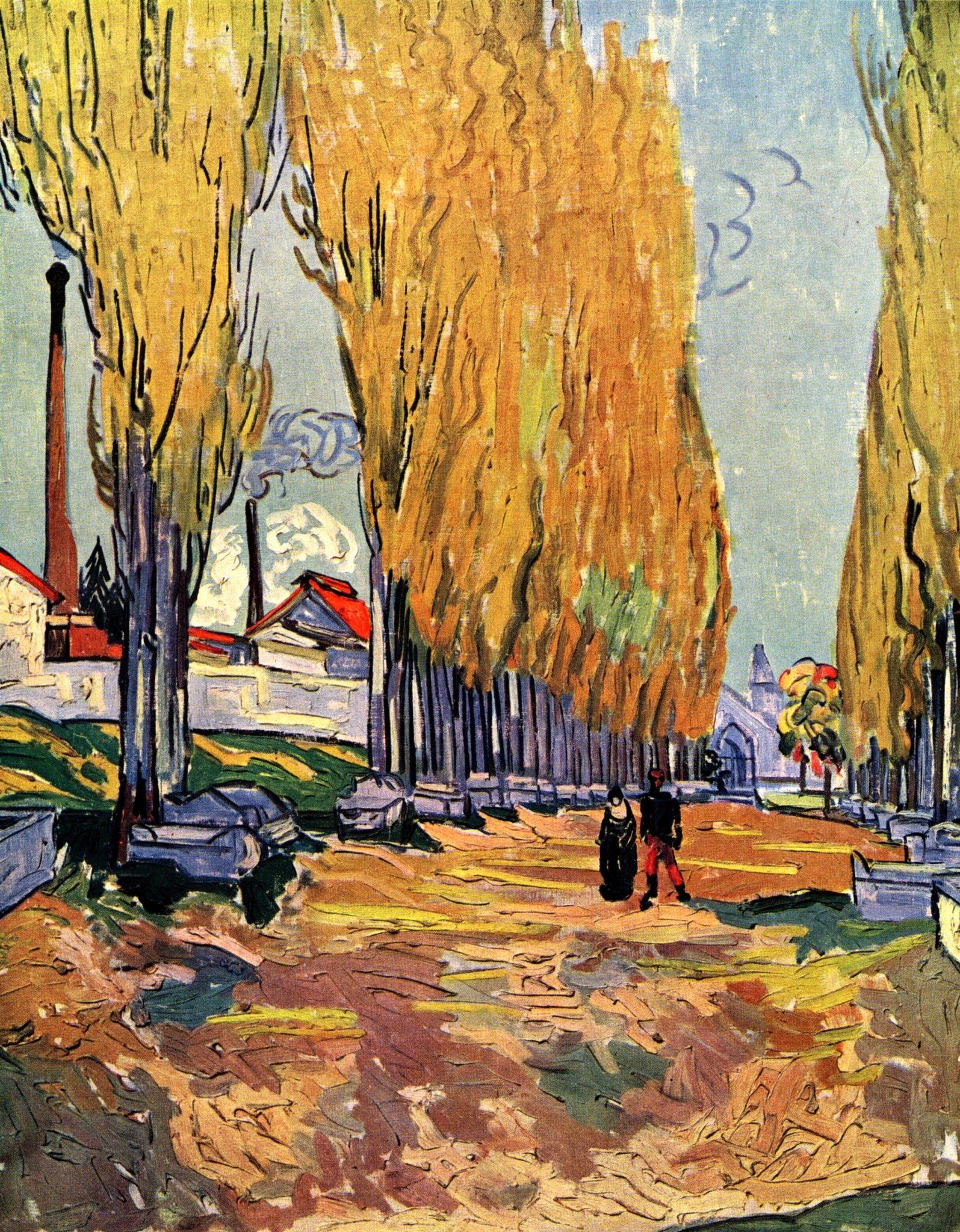 Les Alyscamps Vincent Van Gogh Fecha 1888 Arles Bouches Du Rhone France Estilo Posimpresionis Vincent Van Gogh Art Artist Van Gogh Van Gogh Art