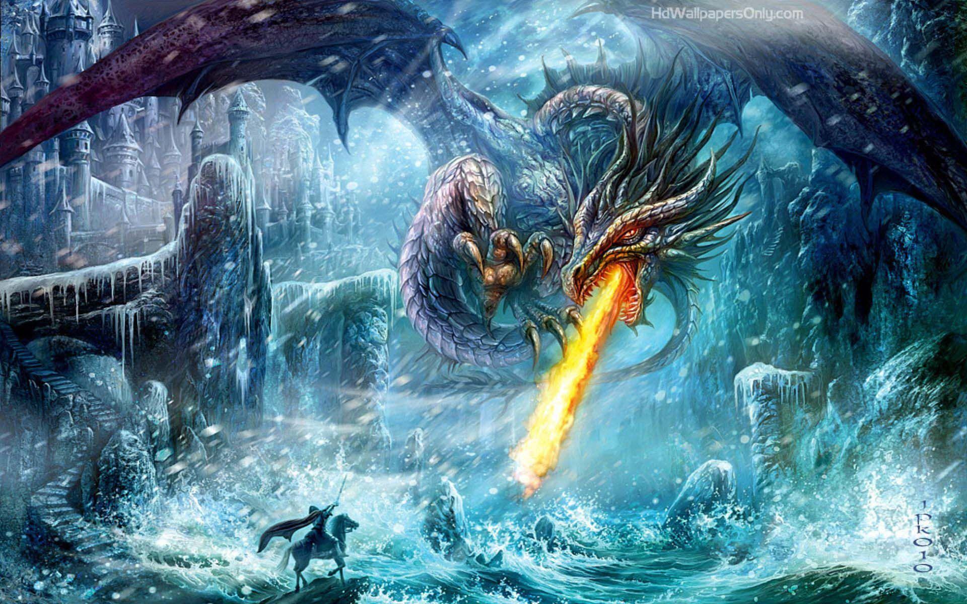 Dragon Battle In Snow Creature Artwork Fantasy Dragon Art Club Desktop dragon nest sea wallpaper hd