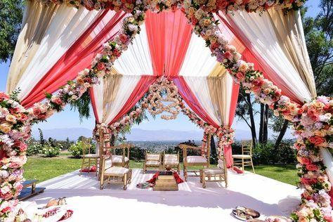 Outdoor Indian Wedding Mandap Outdoor Indian Wedding Indian Wedding Decorations Outdoor Hindu Wedding