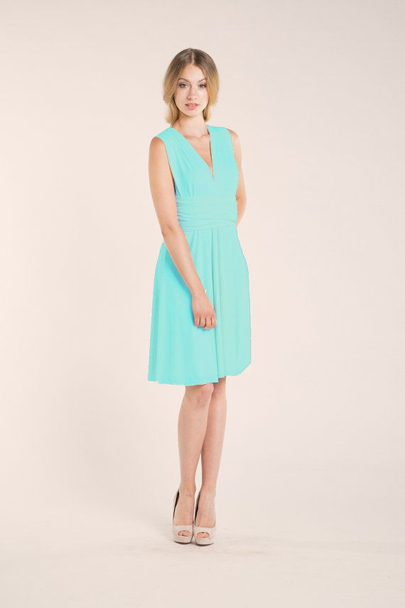 Aquamarine dress light blue short dress light turquoise | BRIDESMAID ...