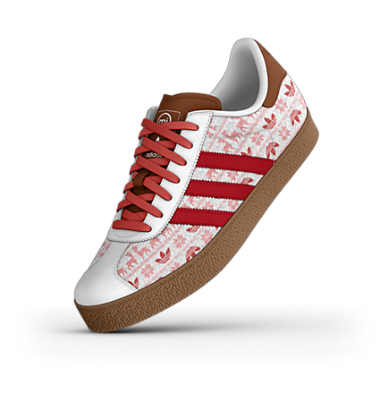 adidas mi Gazelle Custom Shoes. size 8
