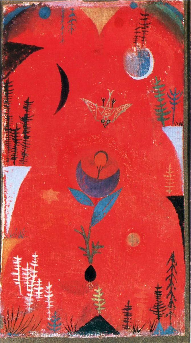 Paul Klee Mythe Des Fleurs 1918 Aquarelle Sur Fond De Craie